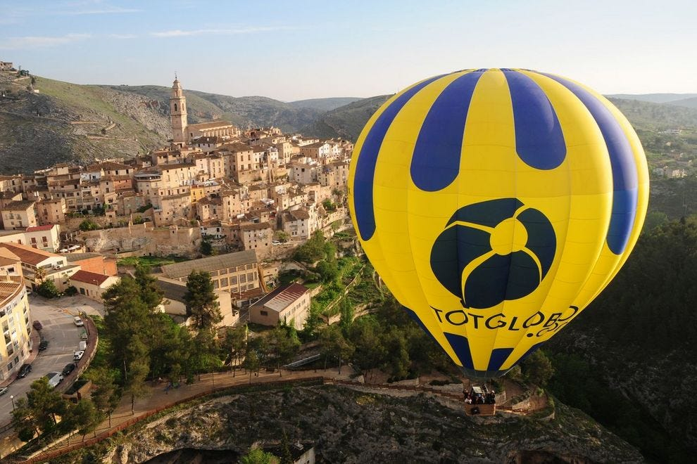 Hot air balloon ride over Bocairent