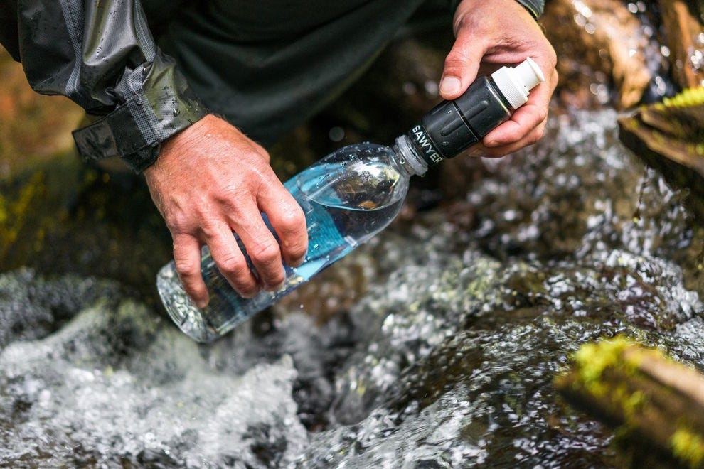Take this water filtration system anywhere