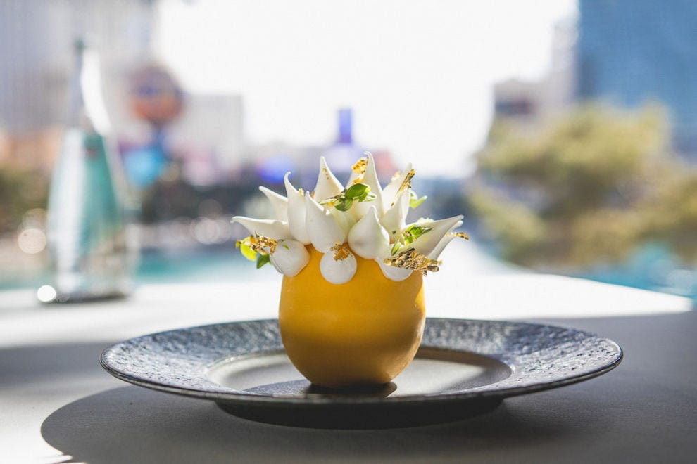 The Spiked Lemon at Spago at Bellagio is a work of art
