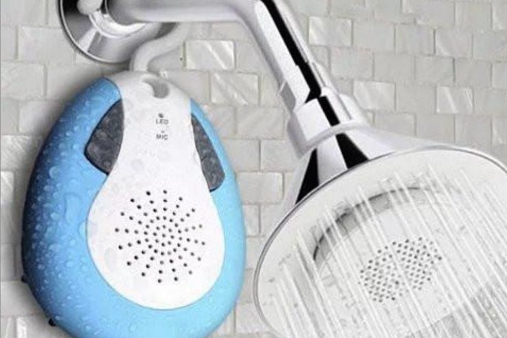 Sing along in any shower with this waterproof Bluetooth speaker
