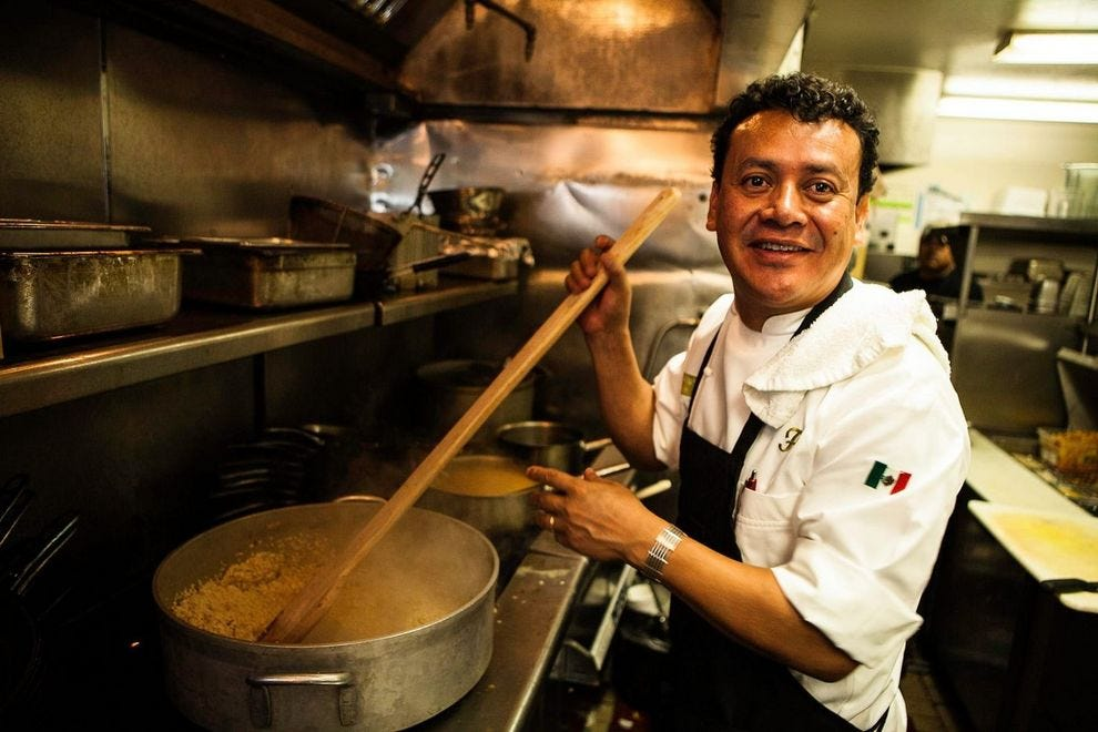 Chef Hugo Ortega at his restaurant, Hugo's