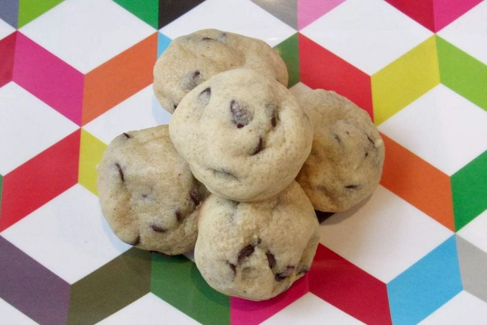 Warm Belly's CBD Cookies are packed with chocolate chips