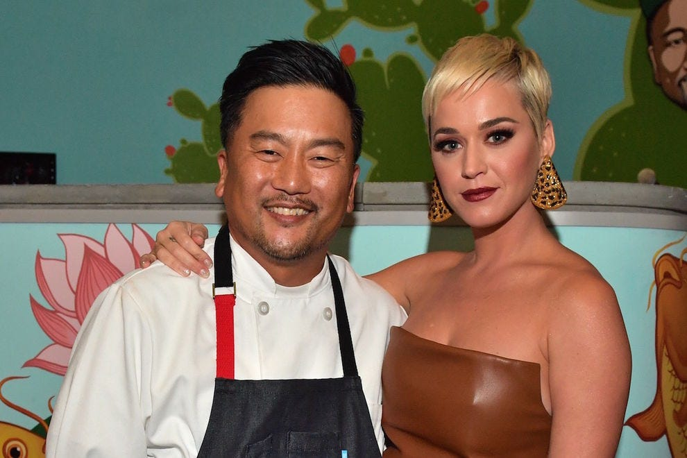 Chef Roy Choi and Katy Perry at Best Friend
