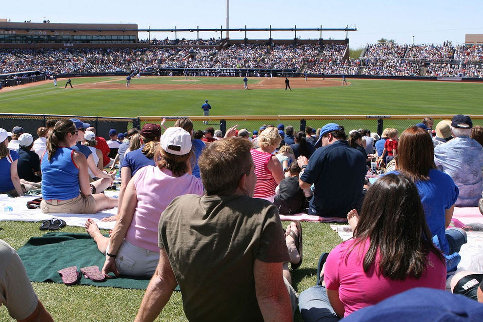 Catch a Mariners or Padres game during spring training in Peoria