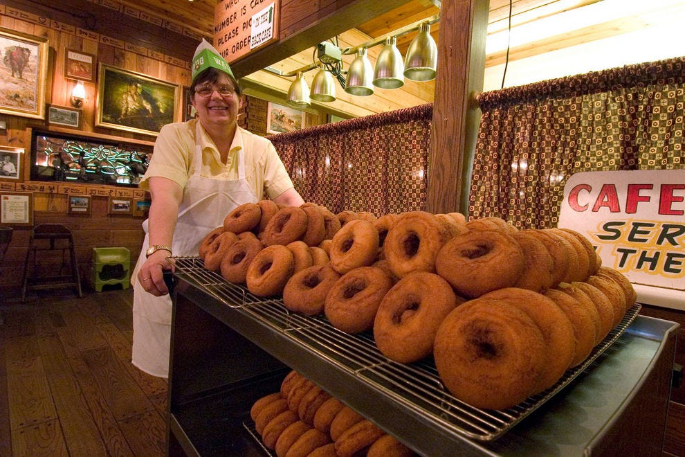 Homemade donuts at Wall Drug