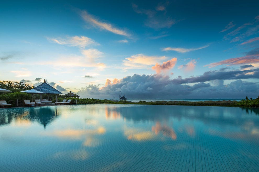You can relax at this gorgeous private island retreat in the Caribbean