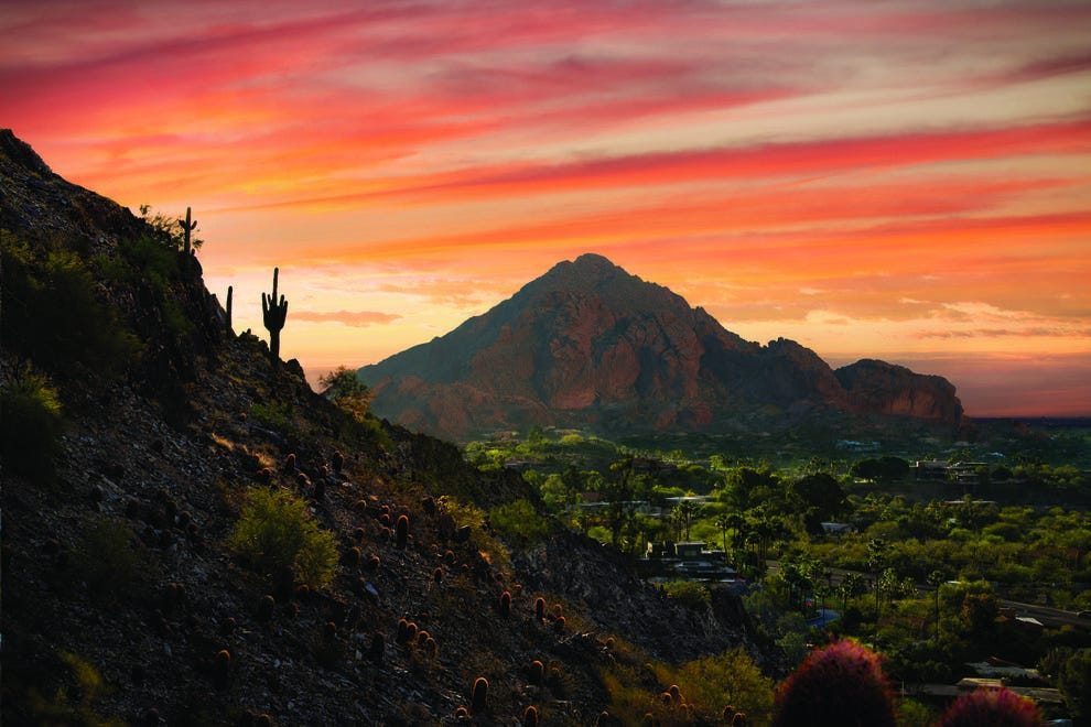 Hikers enjoy adventures found on and around Camelback Mountain