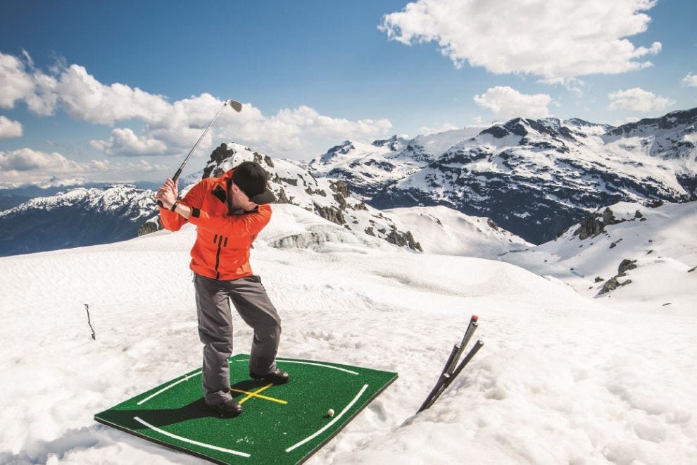 Play golf on a glacier at Fairmont Chateau Whistler