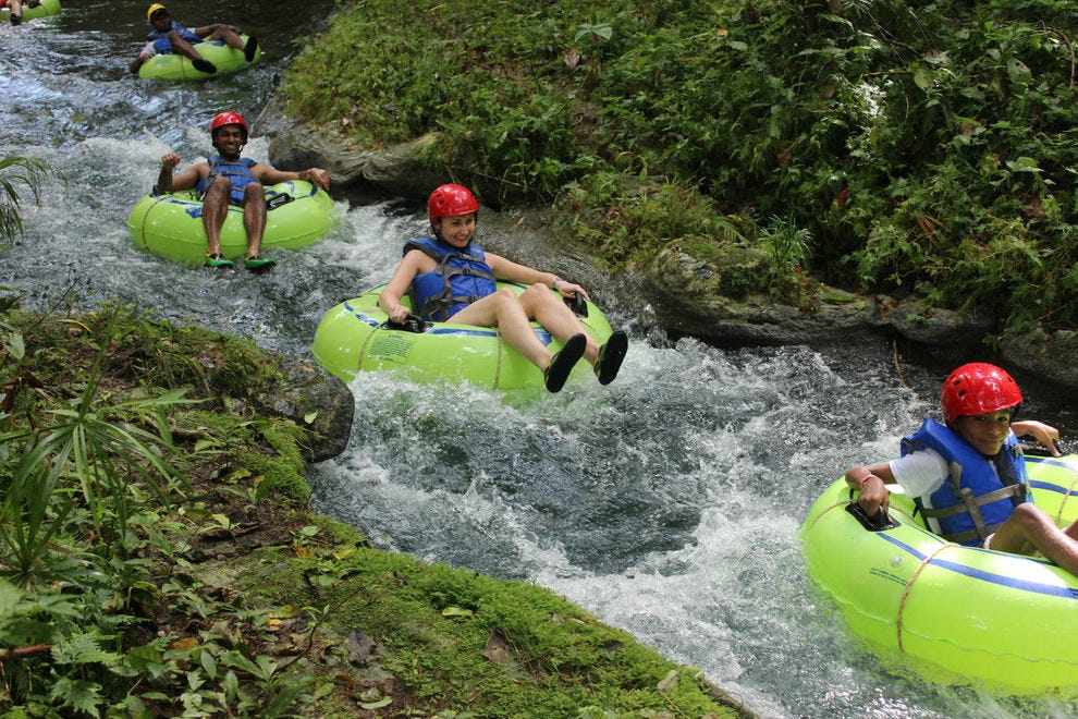 Go river tubing through the jungle