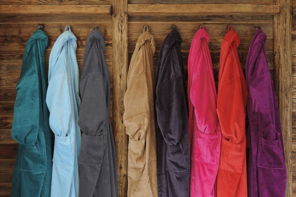 Rainbow of spa robes