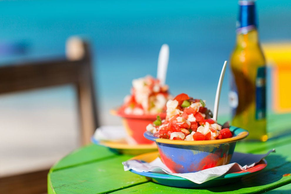 Conch salad in the Bahamas