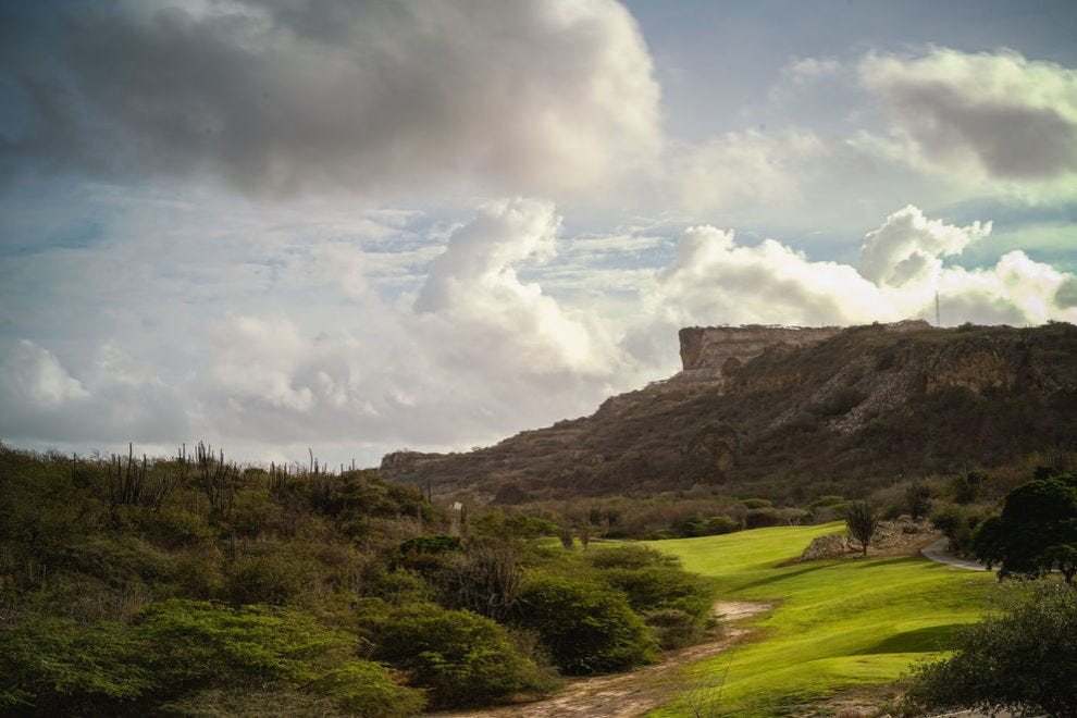 Picture-perfect for a proposal, Hole 4 at the Old Quarry in Curacao