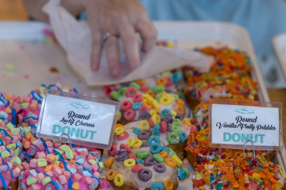 Holtman's specializes in cereal donuts