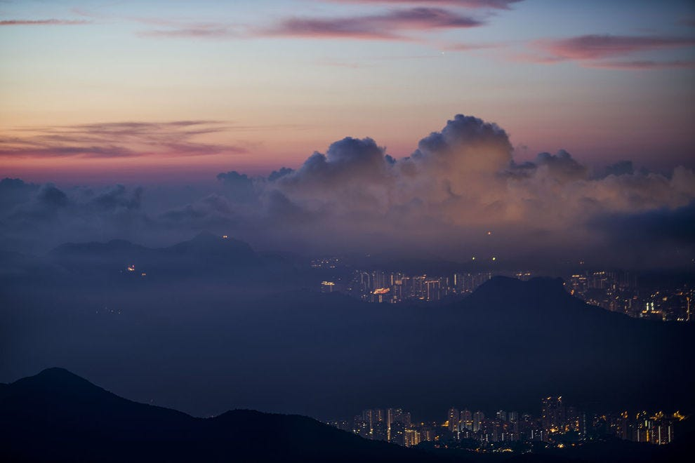 Tai Mo Shan is the highest peak in Hong Kong – and also the tallest coastal peak in Southern China