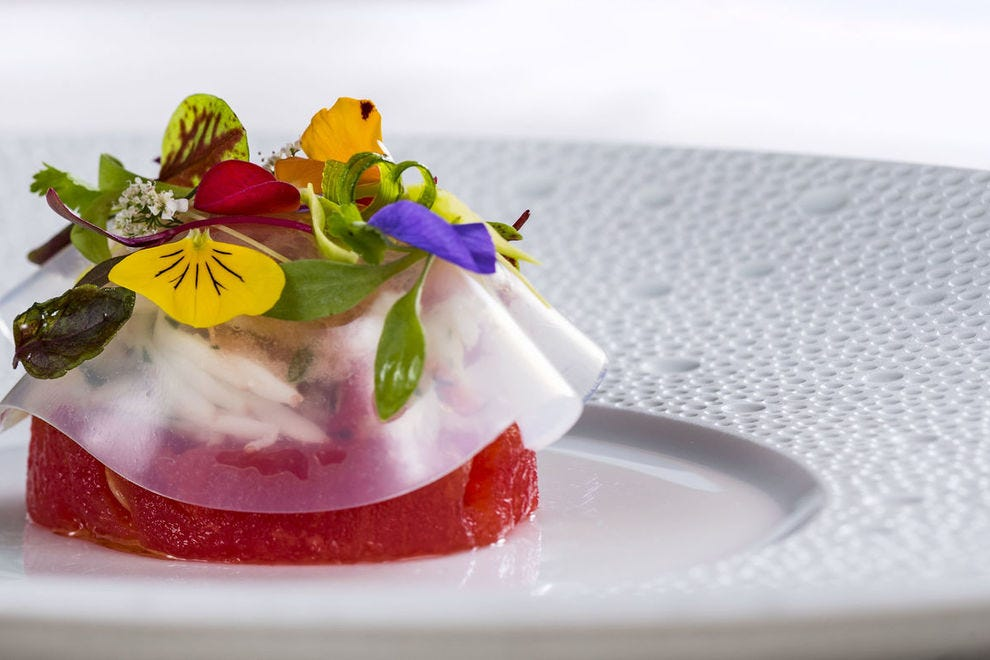 What could be on the menu? Alaskan king crab and compressed watermelon from Victoria & Albert's