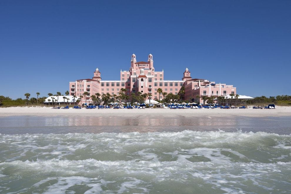 "Like a fairy-tale castle, ""The Don"" still reigns over the sands of Pass-a-Grille Beach."