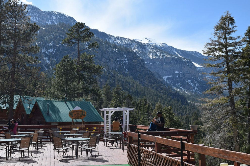 Patio area at the Mt. Charleston Lodge