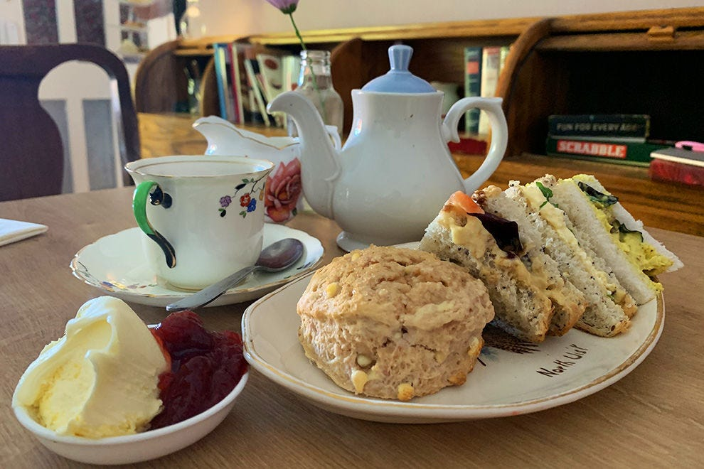 The Wee Tea (smaller version of afternoon tea) at the Hidden Lane Tearoom