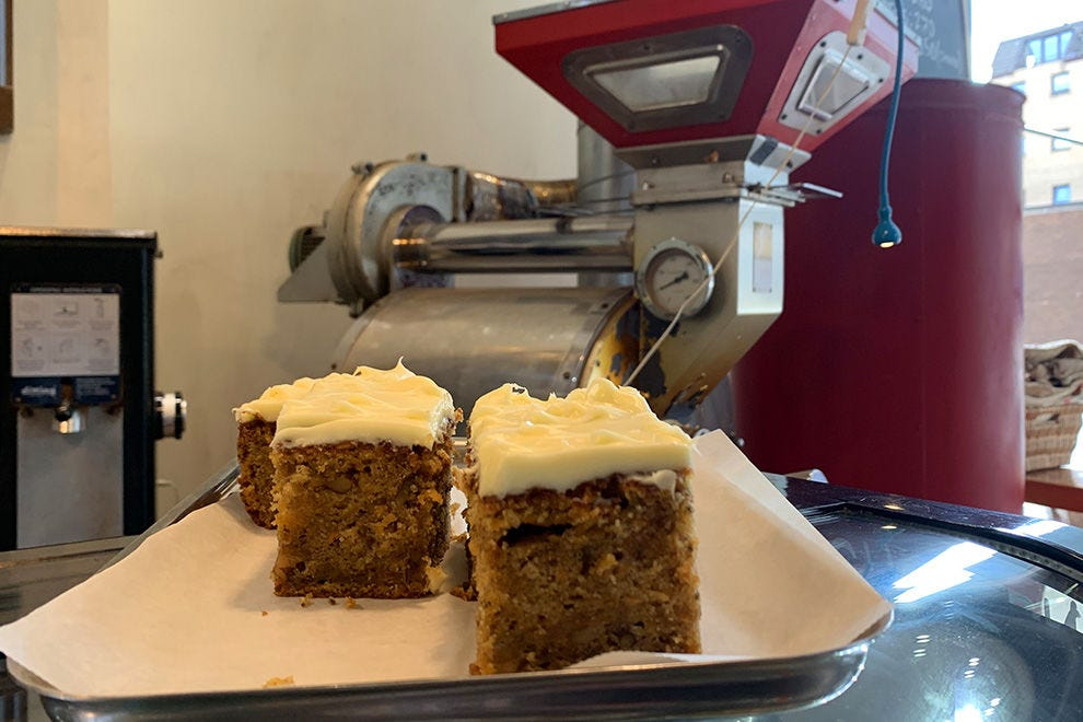 Best-selling carrot cake at Coffee, Chocolate and Tea