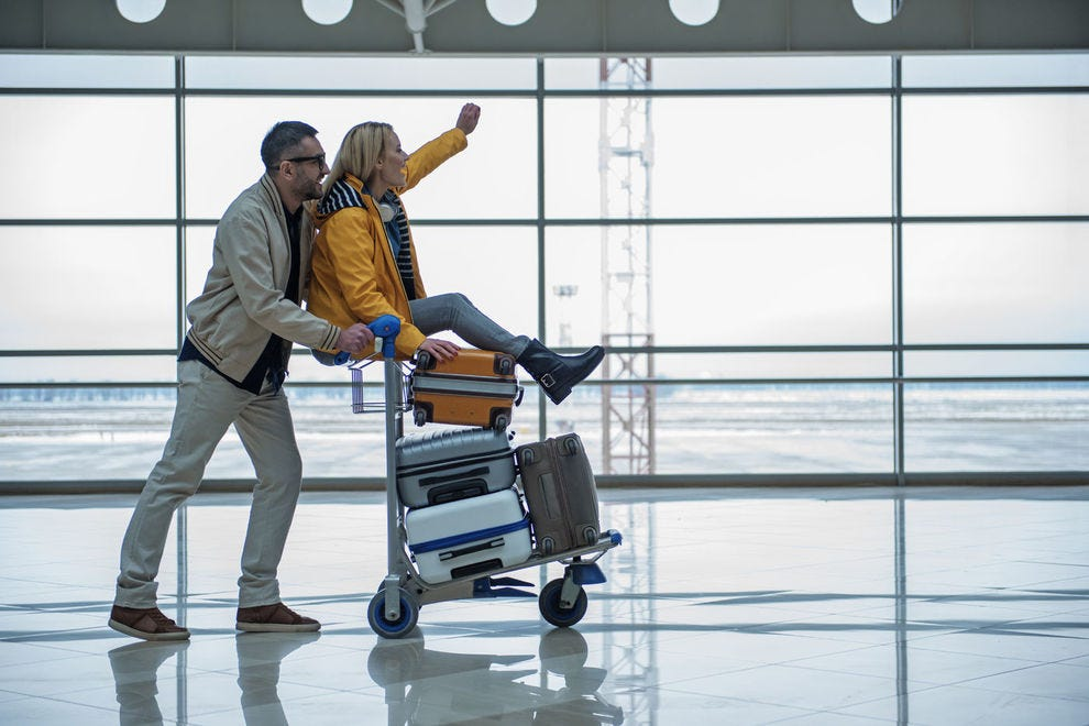 Travel carefree with this checked luggage