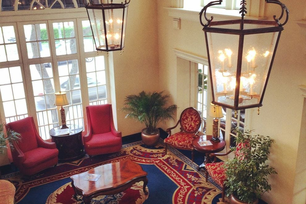 As in the 1920s, elegance greets guests in the Terrace Hotel lobby.