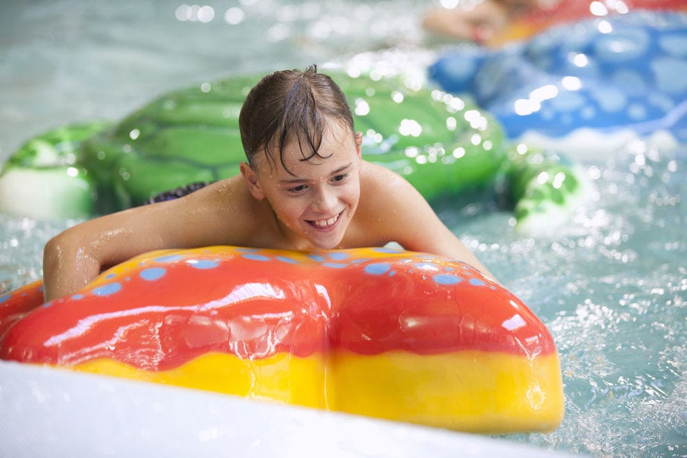 It feels like summer all year at these indoor water parks