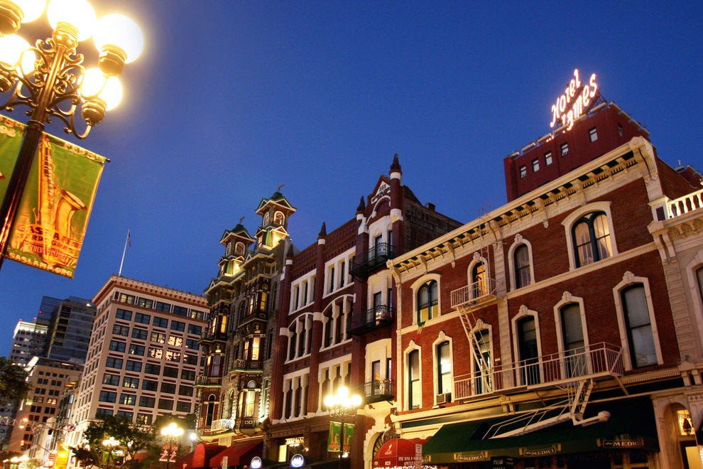 Rock out in San Diego's famous Gaslamp Quarter