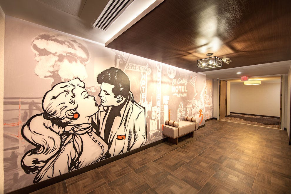The new premium rooms Tower of the El Cortez Hotel & Casino features powerful murals