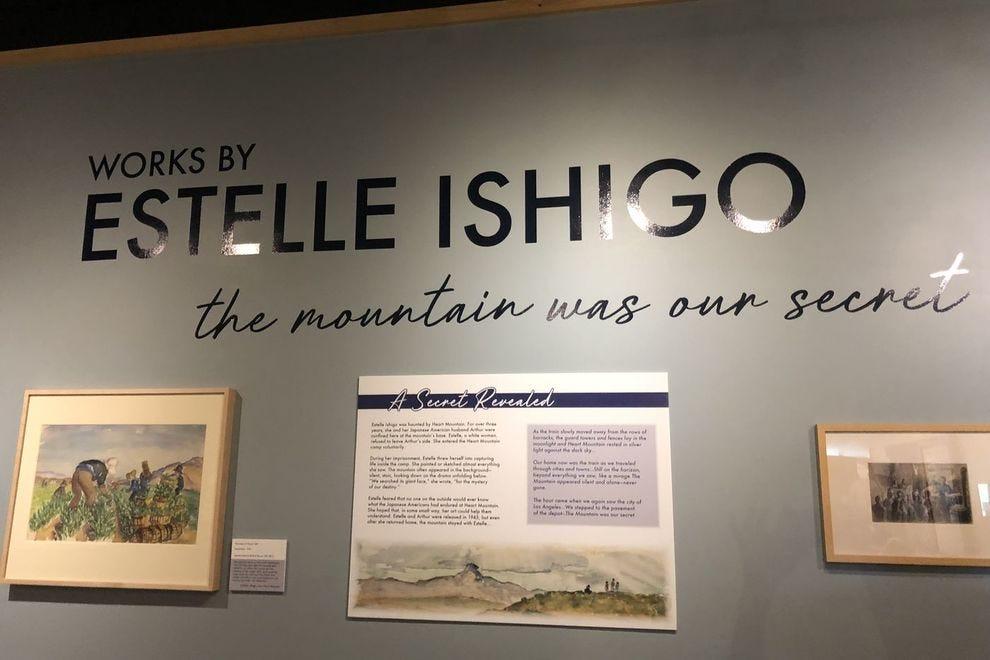 Estelle Ishigo's works at the Heart Mountain Interpretive Center