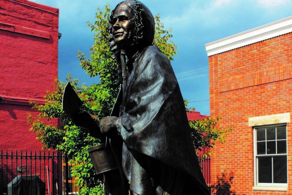 Louisa Gardner Swain sculpture at Wyoming House for Historic Women