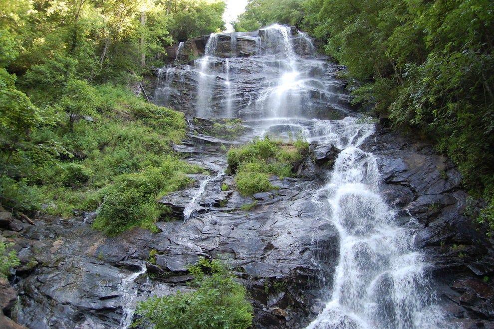 Amicalola Falls plunges 729 feet down