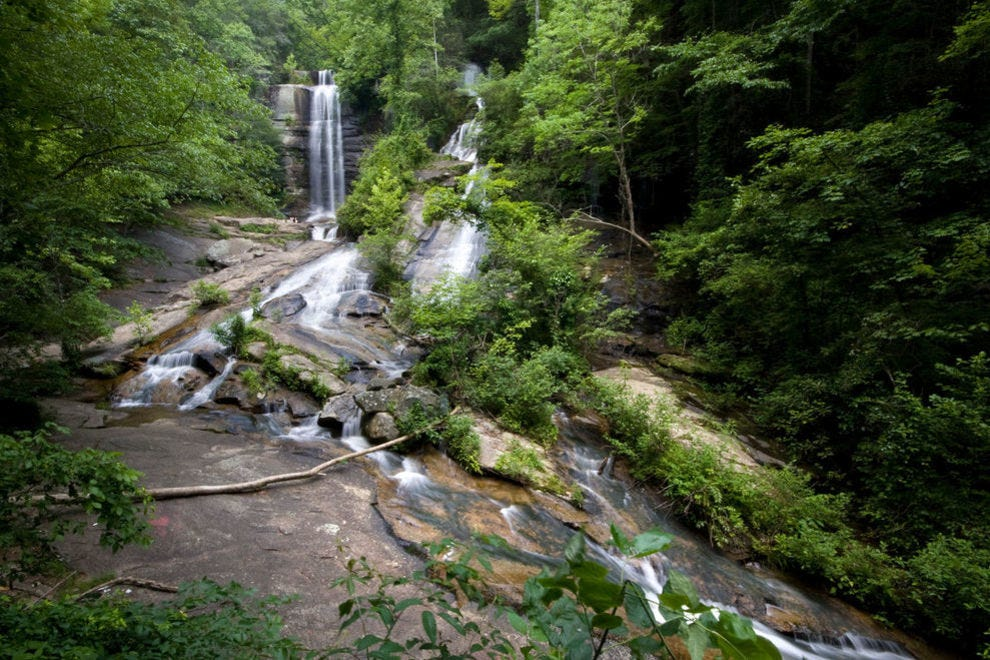 Two separate falls come together to create Twin Falls