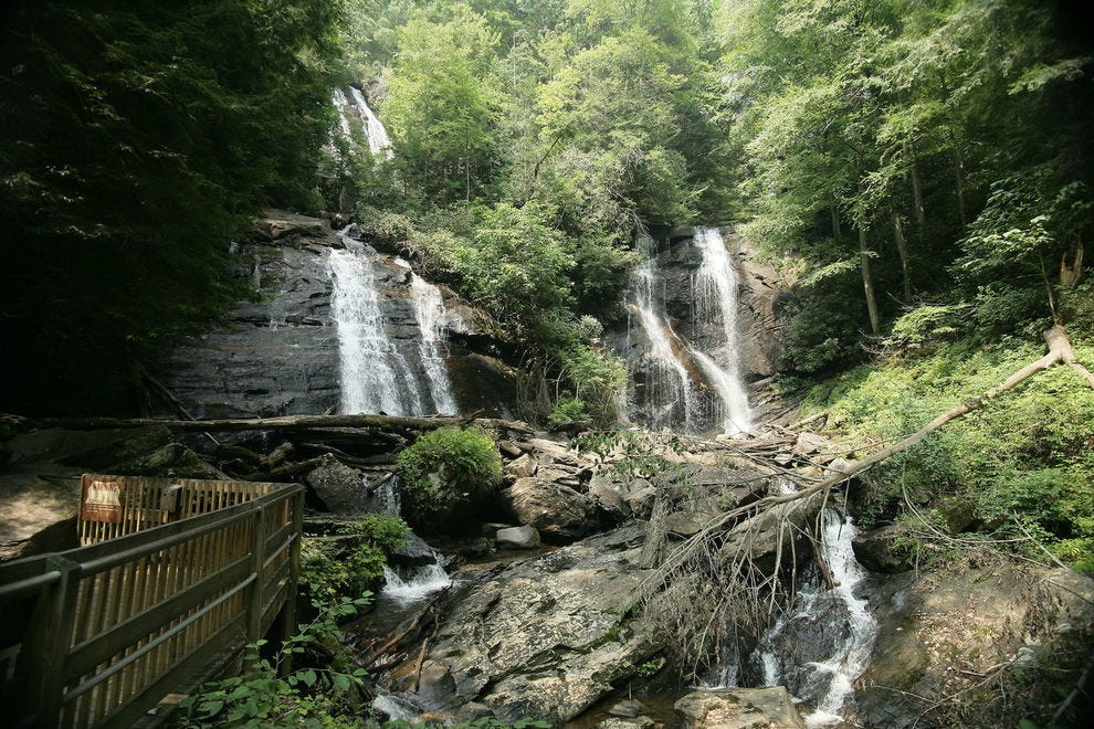 Anna Ruby Falls holds court in the Chattahoochee National Forest