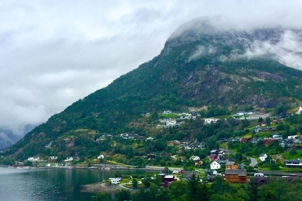 Norway's Eidfjord is a special place where small villages climb green slopes