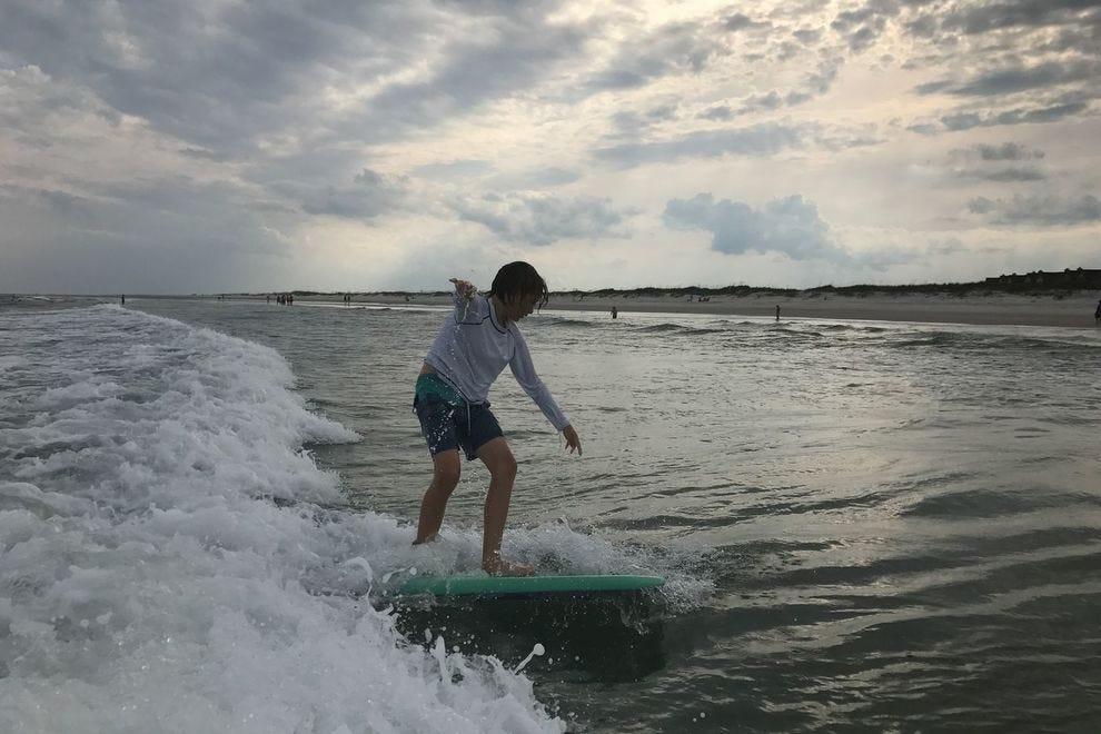 Topsail Island surfing