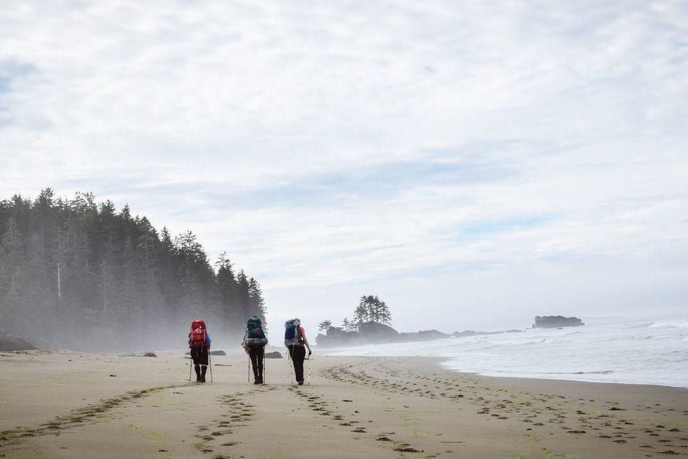Walking the West Coast Trail on Vancouver Island is said to be one of the best hiking experiences in Canada