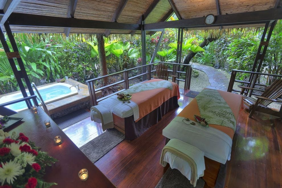 Tabacón's secluded, relaxing spa bungalows
