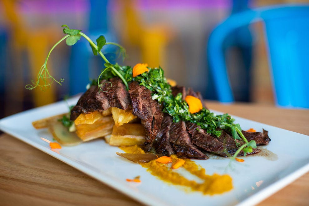 Maize specializes in Latin American food like churrasco con chimi