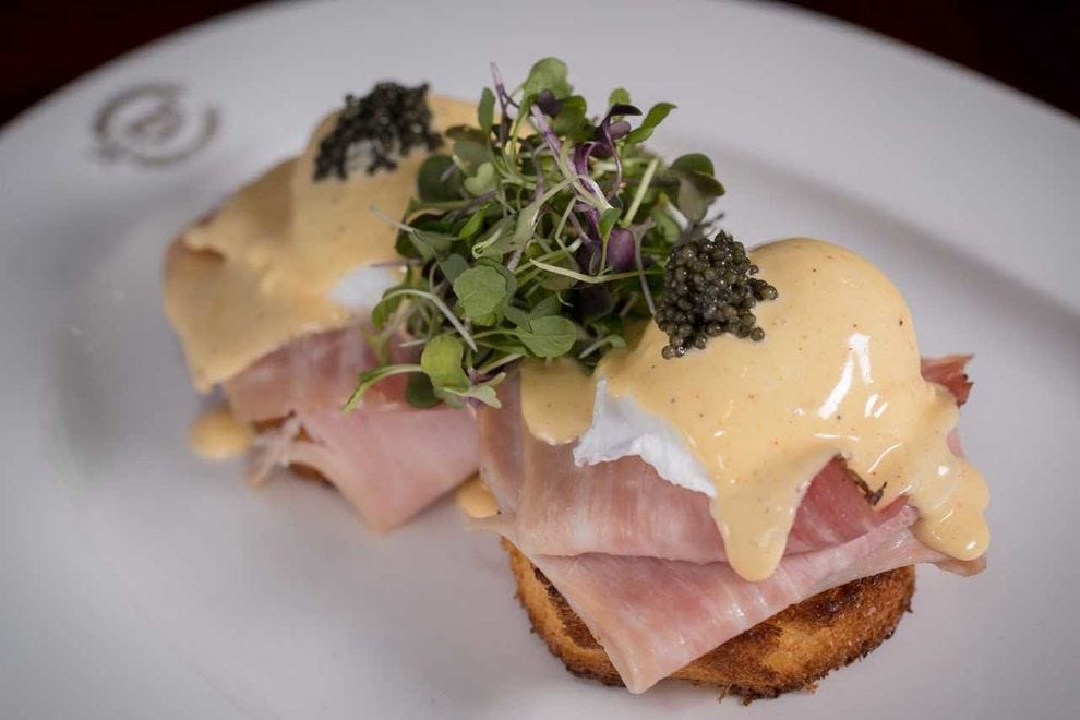 With its poached eggs, ham and hollandaise, eggs Benedict is the perfect breakfast