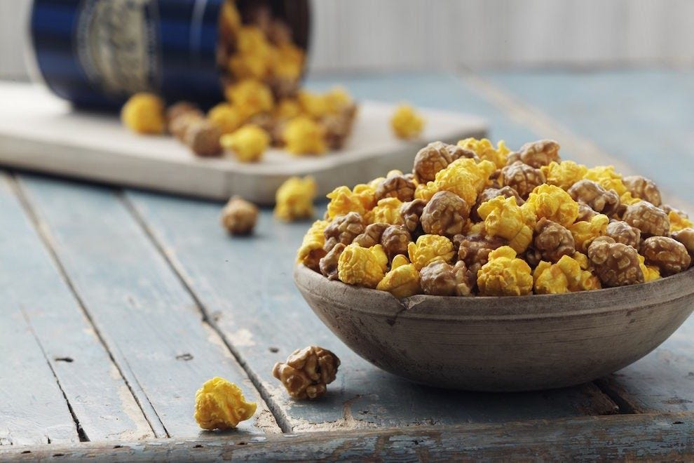 Garrett Popcorn is the perfect balance of cheesy, sweet and salty
