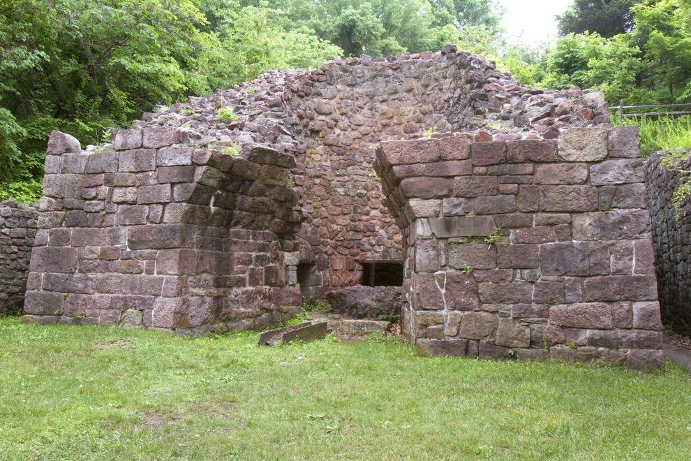 The Hopewell Furnace is a great place to hike and is an easy day trip from Trenton and Philadelphia
