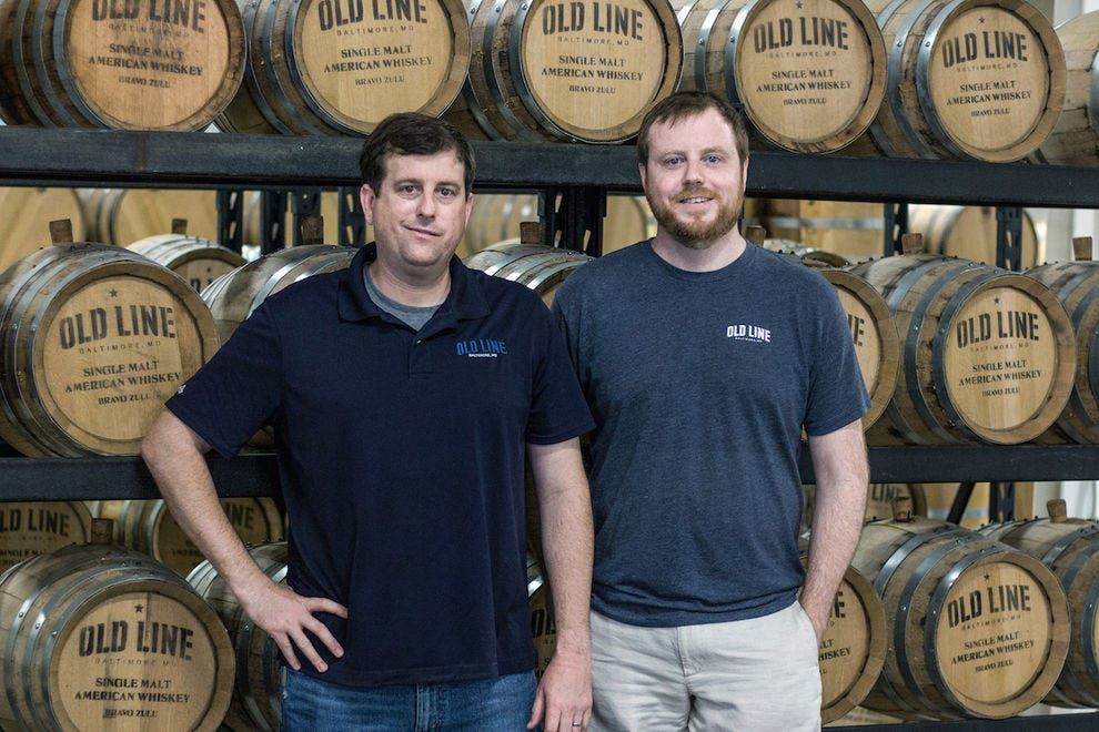 Old Line Spirits co-owners Arch Watkins and Mark McLaughlin