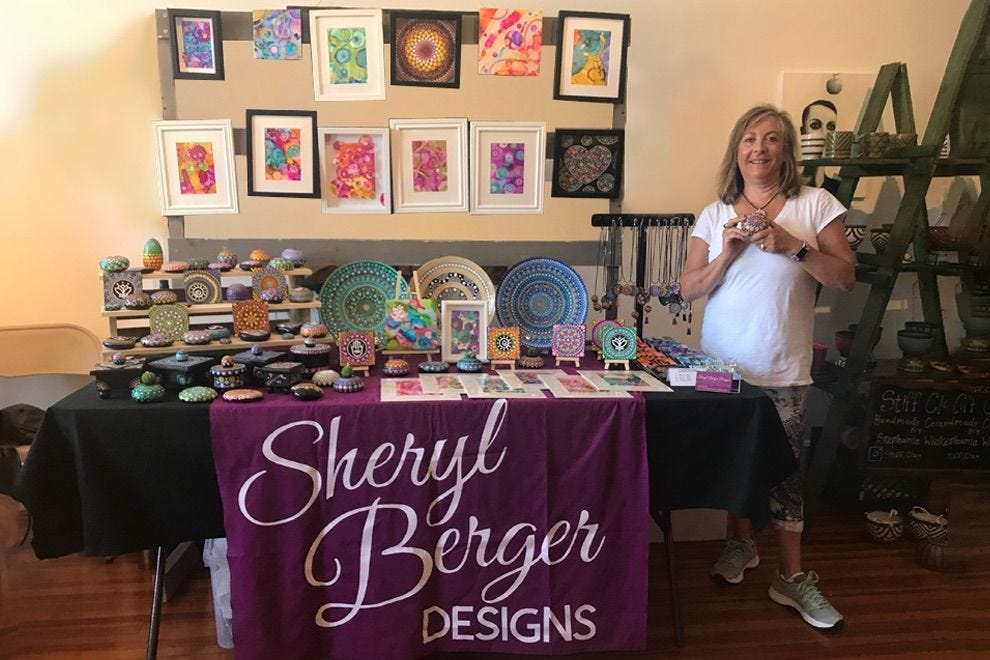 Sheryl Berger and her colorful work