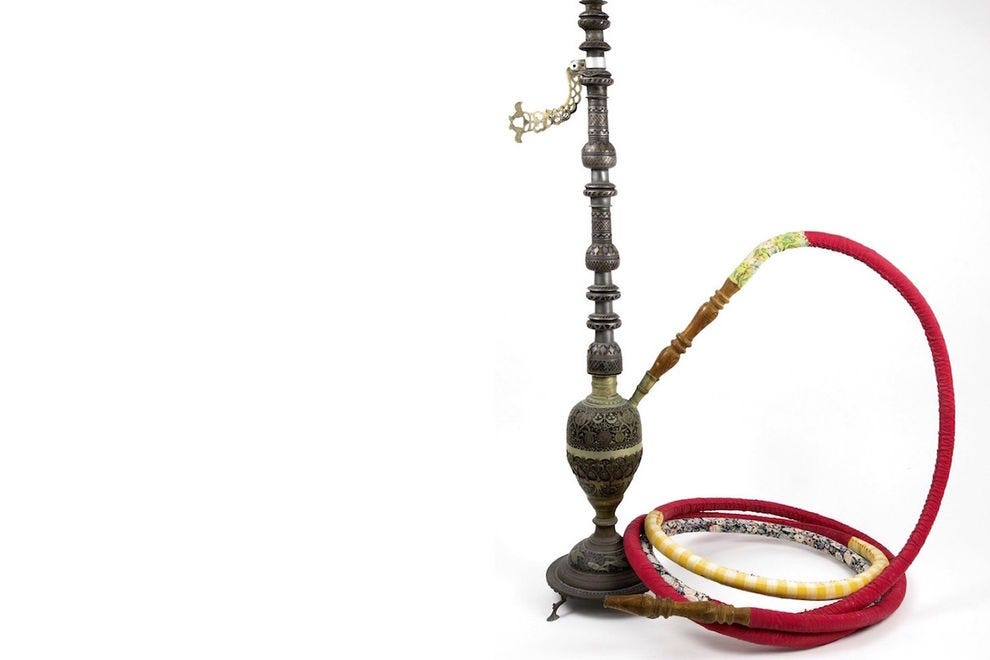 Hookah from Aden, courtesy of the Association for the Promotion of Society and Culture, The Museum of Yemenite Jewish Heritage, Netanya