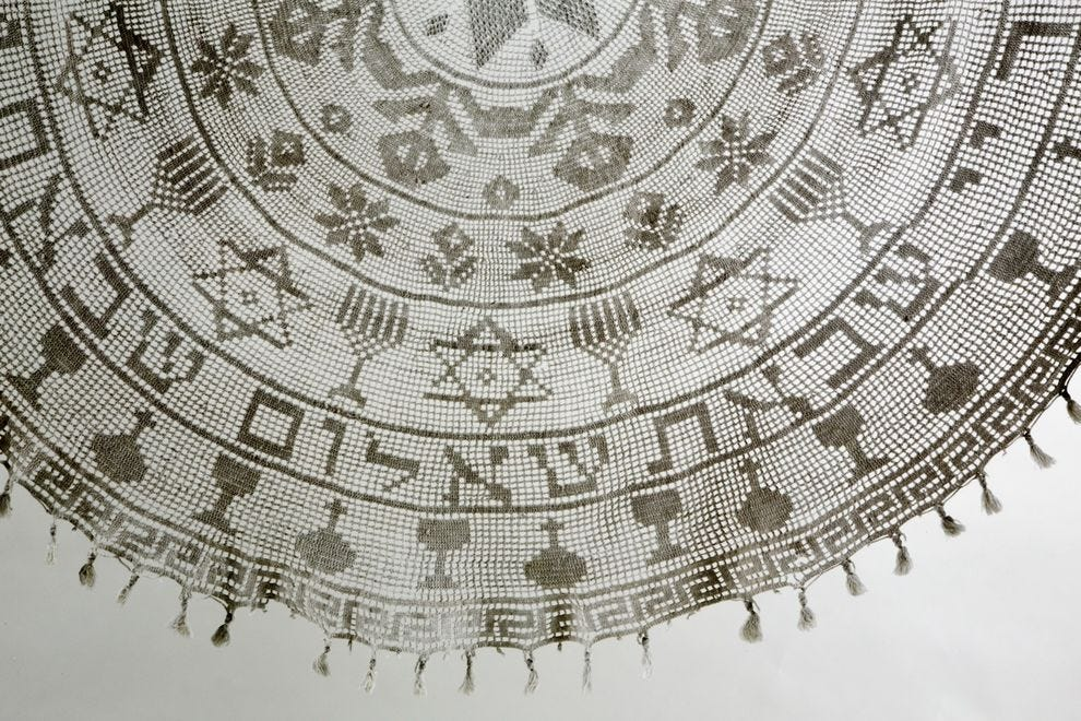 Tablecloth from Iran, courtesy of the Mashiach Family Collection