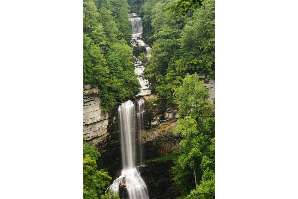 Raven Cliff Falls is one of South Carolina's largest waterfalls