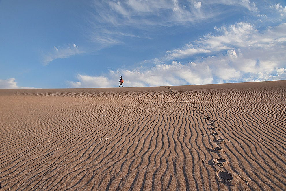 Endless sand and sky in the Atacama