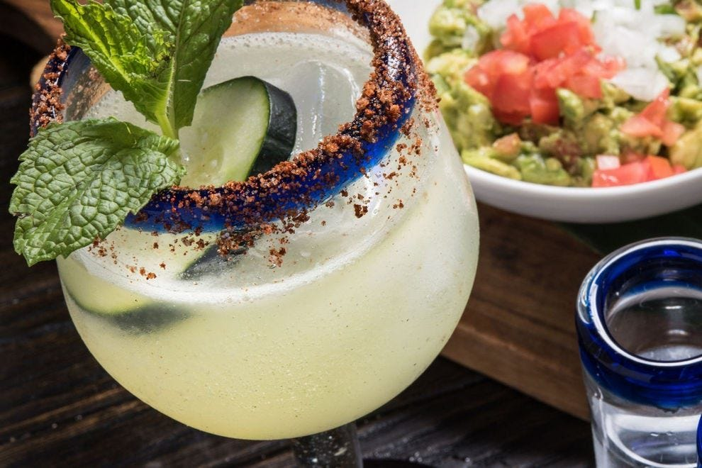 For lovers of spicy heat, try this margarita with habanero