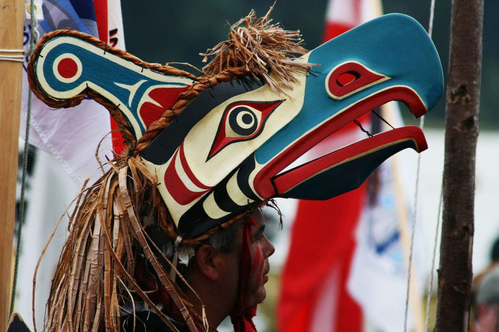 Visit indigenousbc.com to learn about the The Coast Salish, Nuu-chah-nulth and Kwakwakaw'akw people who have long called this region home