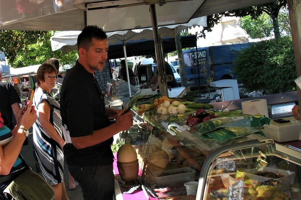 Shadowing <em>Tango</em>'s private chef, Pierre, at the Blaye fresh market